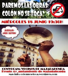 Cacerolada 18 de junio 2014 #ColónNoSeToca